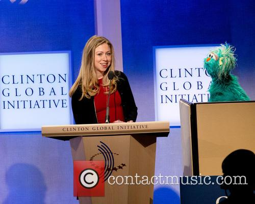 Chelsea Clinton and Rosita The Muppet 2