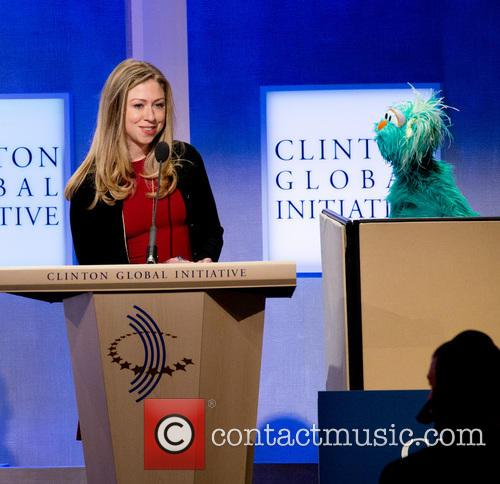 Chelsea Clinton and Rosita The Muppet 3