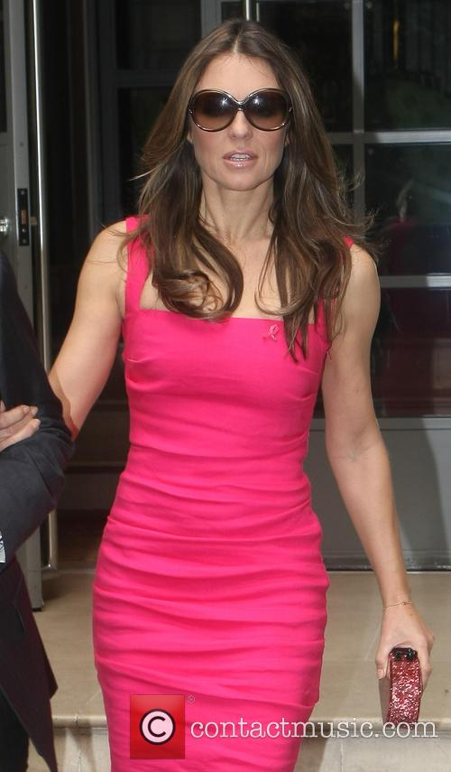 Elizabeth Hurley leaving the Soho hotel