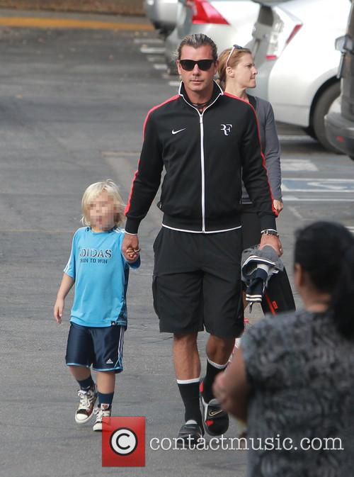 Gavin Rossdale takes son Zuma to school