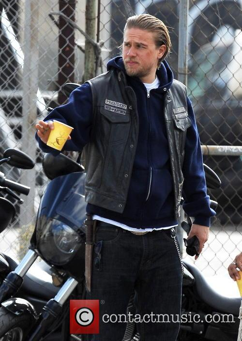 Charle Hunnam, Sons of Anarchy Filming