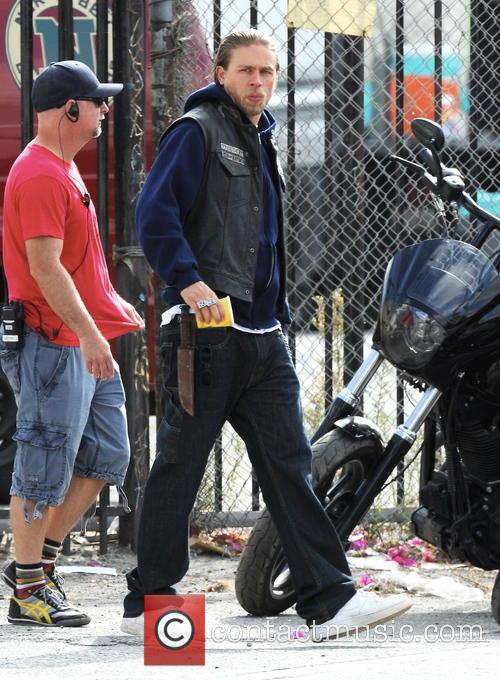 """""""Sons Of Anarchy"""" in downtown Los Angeles."""
