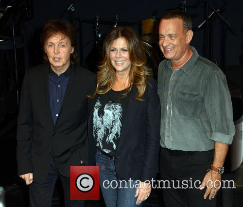 Sir Paul Mccartney, Rita Wilson and Tom Hanks 2
