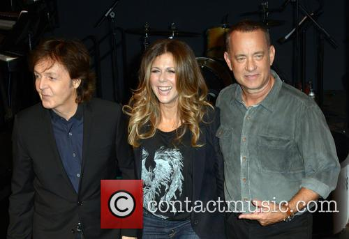 Sir Paul Mccartney, Rita Wilson and Tom Hanks 5