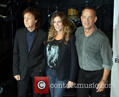 Sir Paul Mccartney, Rita Wilson and Tom Hanks