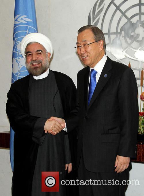 Mr. Hassan Rouhani and Un Secretary Ban Ki Moon 2