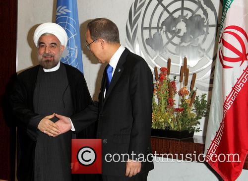 Mr. Hassan Rouhani and Un Secretary Ban Ki Moon 4