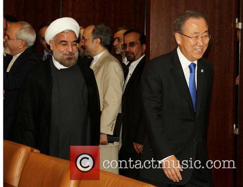 Mr. Hassan Rouhani and Un Secretary Ban Ki Moon 5