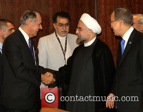 Mr. Hassan Rouhani and Un Secretary Ban Ki Moon 9