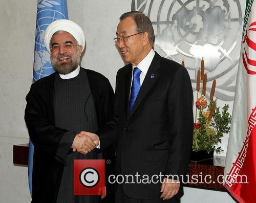 Mr. Hassan Rouhani and Un Secretary Ban Ki Moon 10
