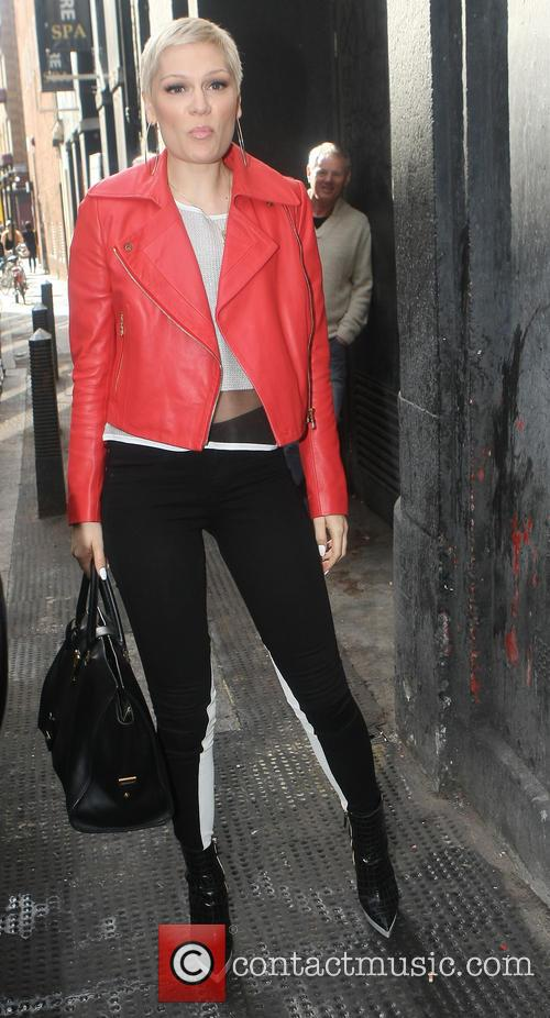 Jessie J arriving for her Facebook Live Chat