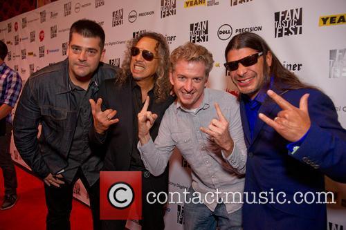 Nimród Antal, Kirk Hammett, Tim League and Robert Trujillo 1