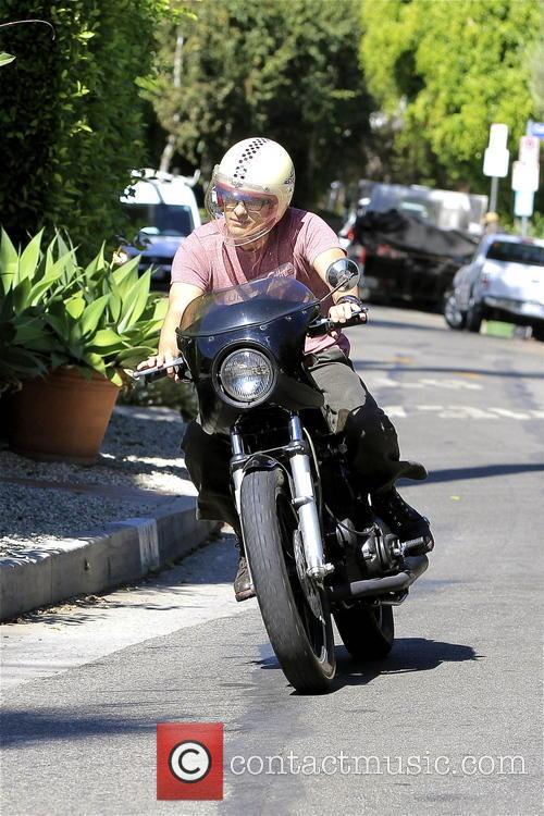 olivier martinez was pictured riding his bike