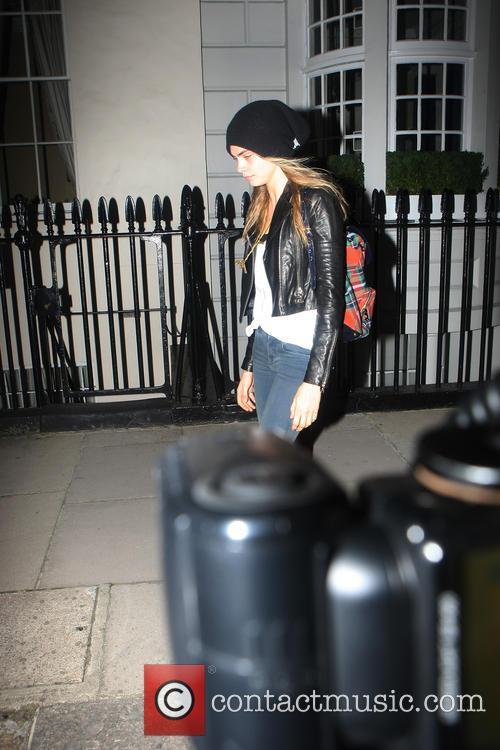 Cara Delevingne leaving her house
