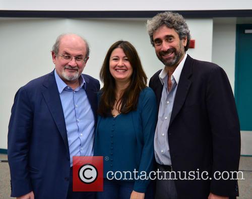 Salman Rushdie, Cristina Nosti and Mitchell Kaplan 6