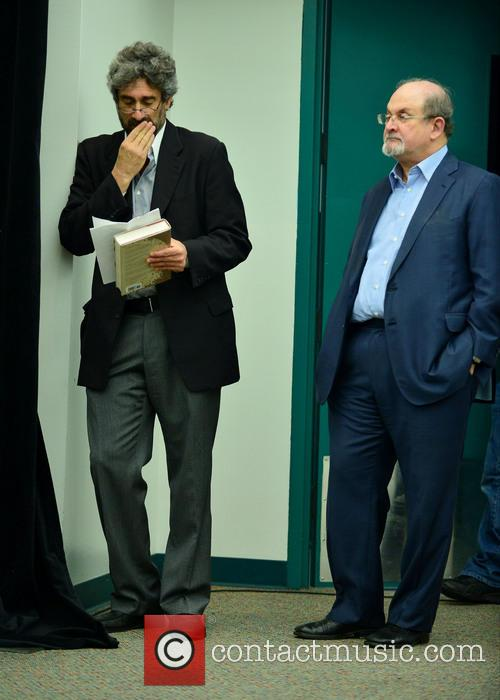 Mitchell Kaplan and Salman Rushdie 2