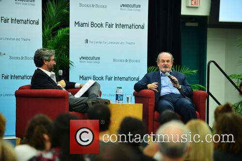 Mitchell Kaplan and Salman Rushdie 3