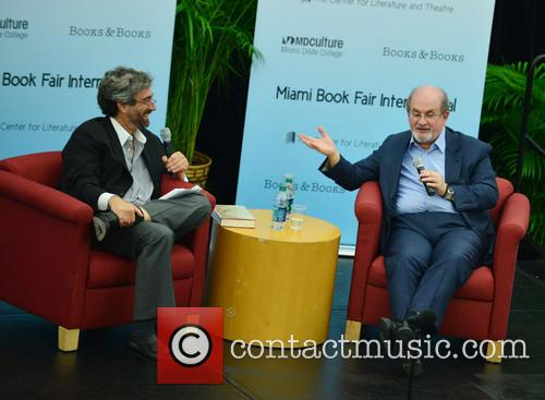 Mitchell Kaplan and Salman Rushdie 5