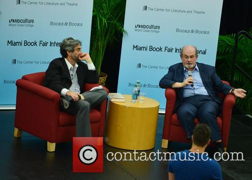 Mitchell Kaplan and Salman Rushdie 6