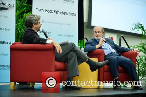 Mitchell Kaplan and Salman Rushdie 10