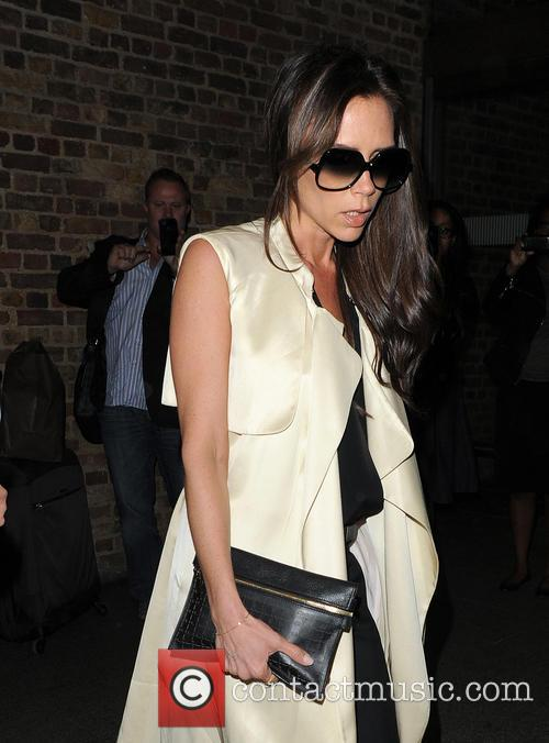 Victoria Beckham arrives at St. Pancras Station
