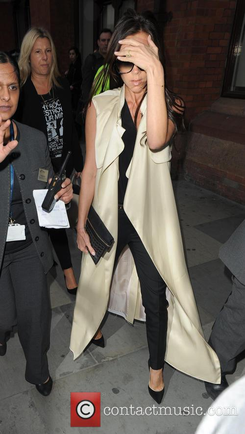 Victoria Beckham arrives at St. Pancras Station