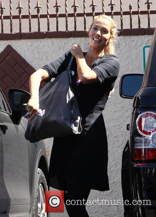 Celebrities at the rehearsal studio for DWTS