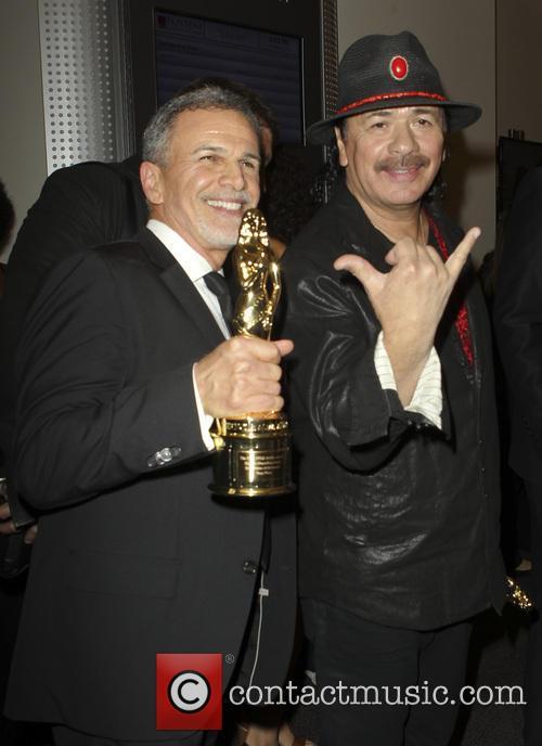 Tony Plana and Carlos Santana 2