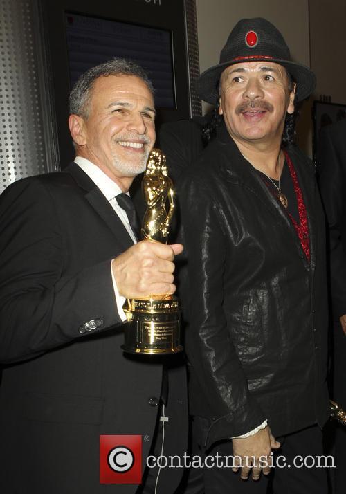 Tony Plana and Carlos Santana 3
