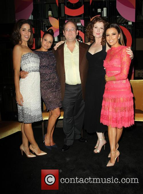 Ana Ortiz, Judy Reyes, Marc Cherry, Rebecca Wisocky and Eva Longoria 2