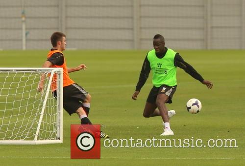 Aly Cissokho spotted during his first training session...