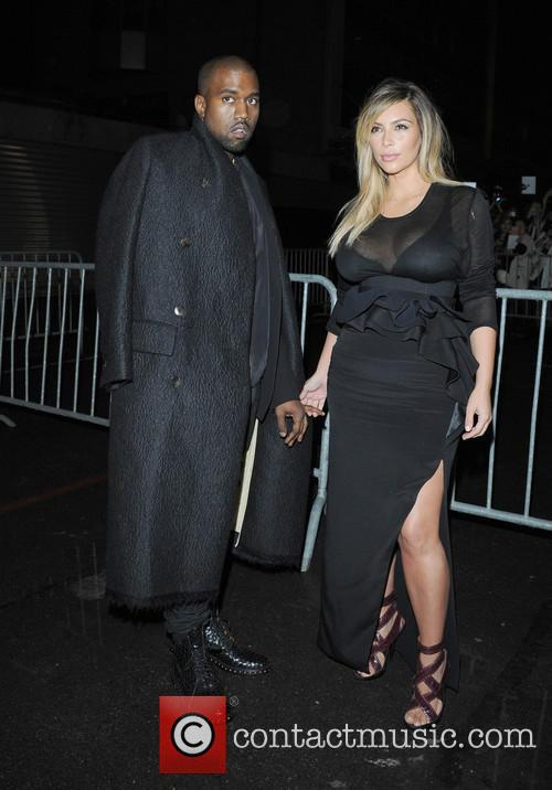 Kanye West, Kim Kardashian, Givenchy at Paris Fashion Week