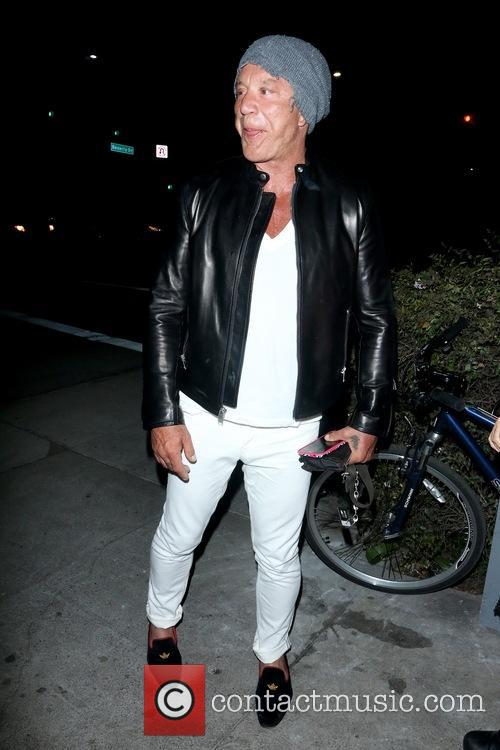 Micky Rourke In Beverly Hills