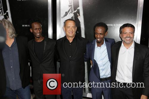 Mahat M. Ali, Tom Hanks, Barkhad Abdi and Mike Deluca 6