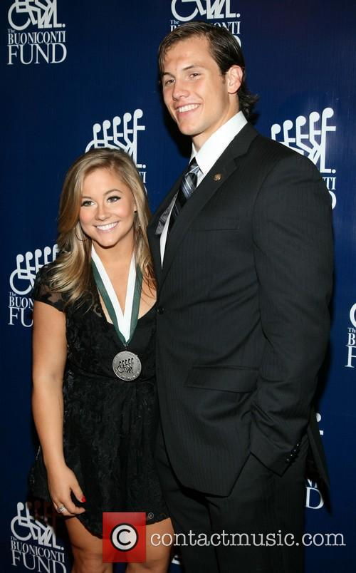 Shawn Johnson and Andrew East 6