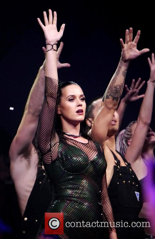 Katy Perry performing at the iTunes festival