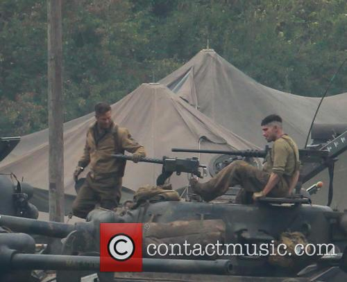 Fury Film Set
