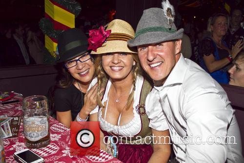 Michael Schumacher, Michellle Yeoh and Corinna Schumacher 2