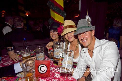 Michellle Yeoh, Michael Schumacher and Corinna Schumacher 2