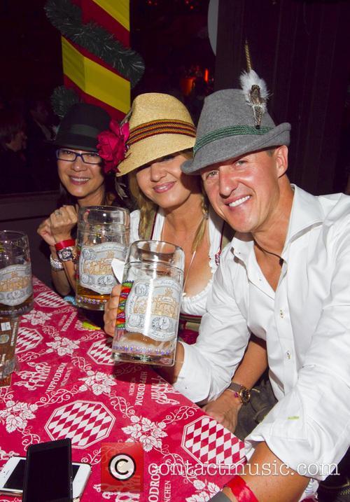 Michellle Yeoh, Michael Schumacher and Corinna Schumacher 5