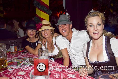 Michellle Yeoh, Michael Schumacher and Corinna Schumacher 8