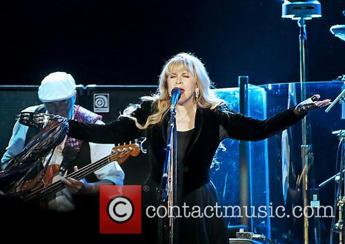 Stevie Nicks performing live in concert with Fleetwood Mac at the Manchester Arena, United Kingdom