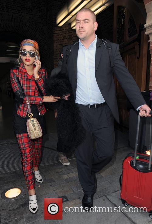 Rita Ora arrives at St Pancras Station on a Eurostar train from Paris