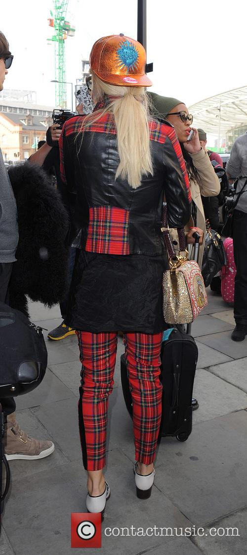 Rita Ora arrives at St Pancras Station on a Eurostar train from Paris