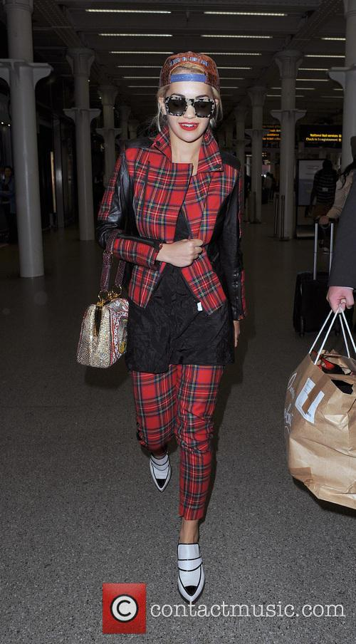 Rita Ora arrives at St Pancras Station on...