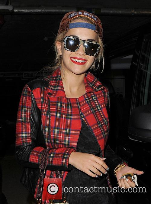Rita Ora returns home from a long afternoon...