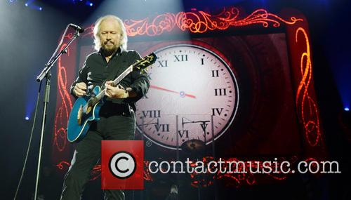 Barry Gibb performs live