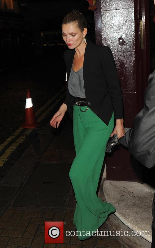 Kate Moss and Jamie Hince Leaving Loulou's