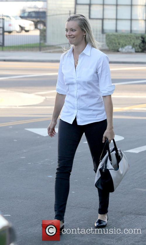 Amy Smart walking in West Hollywood