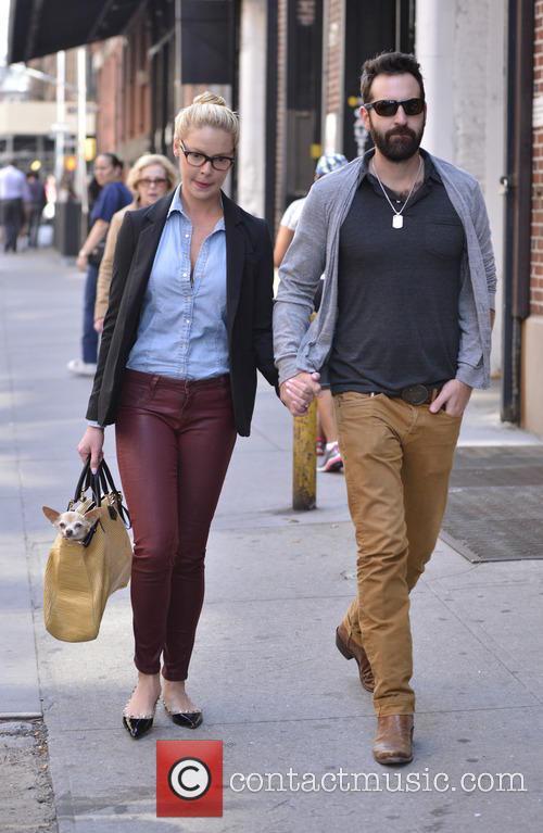 Katherine Heigl strolls with husband Josh Kelley and...